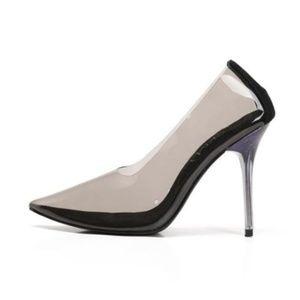 c0637395ad4 *Firm*Mackin J 188-8 Pointed Toe Black Transparent NWT